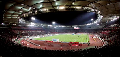 A view of the Gottlieb-Daimler-Stadion in Stuttgart