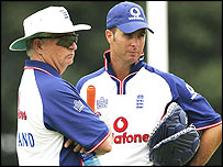 England coach Duncan Fletcher and captain Michael Vaughan