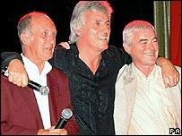 (From left) Jet Harris, Bruce Welch and Tony Meehan