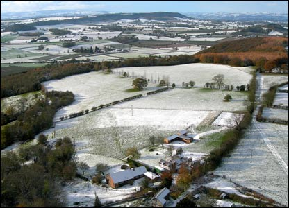The view from above Westhope Common, Herefordshire