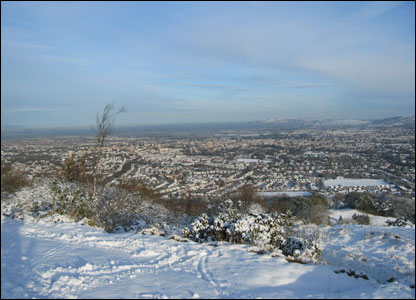 Snow covered Cheltenham