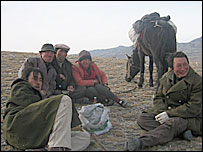 Shepherds in Xinjiang - archive picture