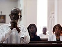 Catholics praying in Senegal
