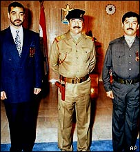 Saddam Hussein and his sons