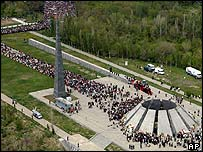 Aerial picture of the memorial in Yerevan