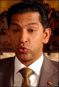 El ex presidente de Ecuador, Lucio Guti�rrez