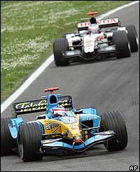 World Championship leader Alonso leads the Sam Marino Grand Prix ahead of Jenson Button