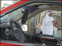 Car damaged in attack on Bangladesh embassy in Kuwait