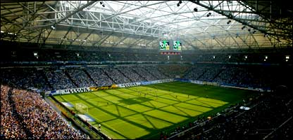 A view of the AufSchalke Arena in Gelsenkirchen