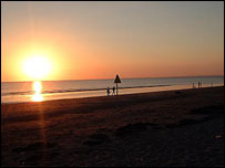Burnham-on-Sea at sunset