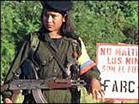 Girl guerrilla in Colombia