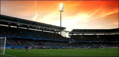 A view of the Franken-Stadion in Nuremberg