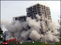 Demolition of Norfolk Park flats