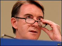 EU Trade Commissioner Peter Mandelson