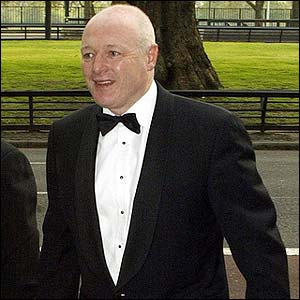 Chelsea's Peter Kenyon arrives for the PFA Awards