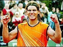 Rafael Nadal, still only 18, is now up to number seven in the world
