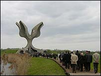 The monument to the dead at Jasenovac