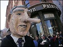 Efigie del presidente de EE.UU., George W. Bush.
