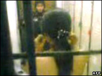Grab from video apparently showing prisoner abuse