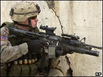 US soldier in Iraq, AP