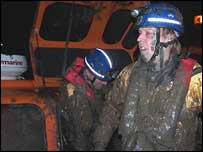 Hovercraft rescuers