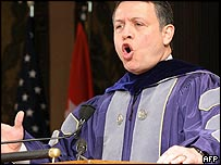 King Abdullah of Jordan at Georgetown University