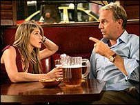Jennifer Aniston and Kevin Costner in Rumour Has It