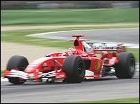 Michael Schumacher at the San Marino Grand Prix
