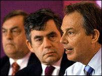 John Prescott, Gordon Brown and Tony Blair