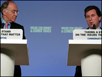 Michael Howard and Oliver Letwin