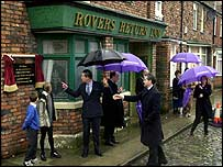 The Prince of Wales visited Coronation Street in 2000