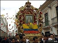 Procesi�n en Ecuador