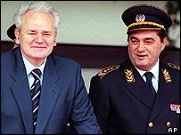 Former Yugoslav President Slobodan Milosevic and Former Yugoslav army chief Nebojsa Pavkovic