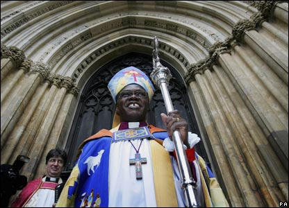 Archbishop of York outside York Minster.