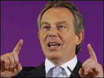 Primer ministro británico, Tony Blair