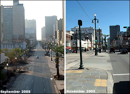 Canal Street, New Orleans then-and-now