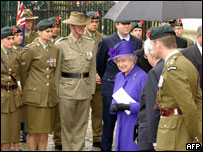 Queen at Anzac Day ceremony