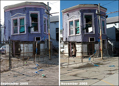 Abandoned purple house, New Orleans