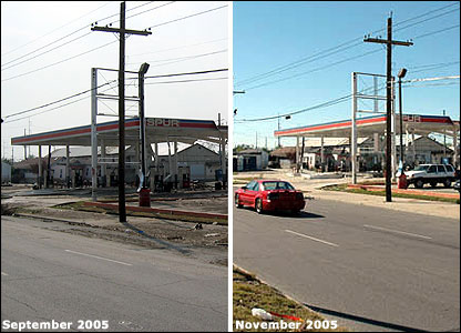 Garage, New Orleans then-and-now