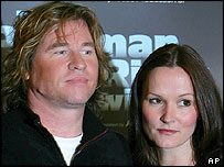 Val Kilmer with co-star Charlotte Emmerson