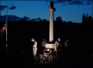 Anzac Day service in Cyprus