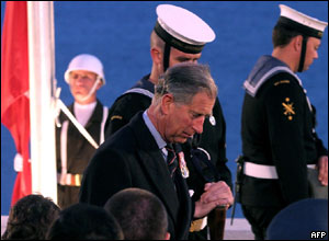 Prince Charles at Anzac Day service