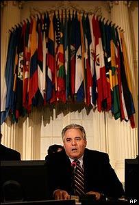El embajador de Per� ante la OEA, Alberto Borea