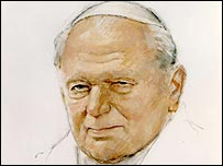 Michael Noakes' portrait of Pope John Paul II