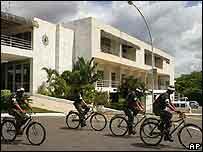 Ciclistas en Brasil.