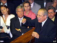 Jose Dirceu defends himself in Brazil's Congress (March 2006)