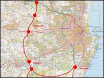 Preferred route