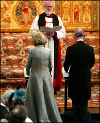 Dr Rowan Williams with the Duchess of Cornwall and Prince Charles