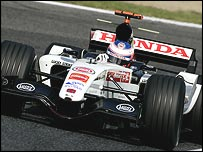 Jenson Button in his BAR-Honda at the San Marino Grand Prix