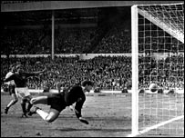 Geoff Hurst's 1966 World Cup final strike was a contentious decision